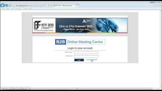 Tutorial Video on How to Log in to Online B2B Meeting Centre