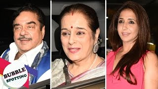 Sonakshi Sinha's Parents, Shatrughan Sinha And Poonam Sinha, Catch The Screening Of Noor