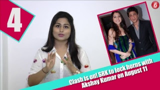 BIG CLASH! Shahrukh Khan To Lock Horns with Akshay Kumar On August 11 | Bubble Bulletin