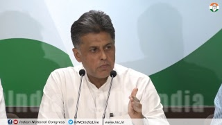Rafale Deal Scam: AICC Press Briefing By Manish Tewari at Congress HQ