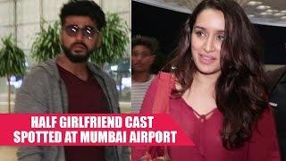 Half Girlfriend Cast Arjun Kapoor and Shraddha Kapoor Spotted At Mumbai Airport