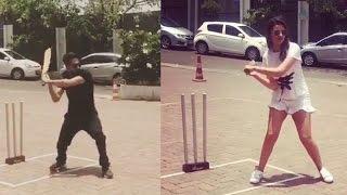 Ayushmann Khurrana and Parineeti Chopra Indulge In a Fun CRICKET Match