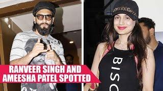 Ranveer Singh and Ameesha Patel Spotted At PVR Juhu