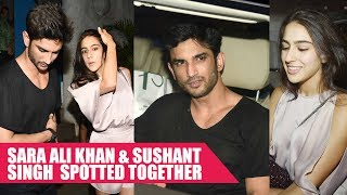 Sara Ali Khan And Sushant Singh Rajput Spotted TOGETHER At Olive Restaurant