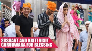 Sushant and Kriti Seek Blessings At Gurudwara Bangla Sahib Ahead of Raabta Release