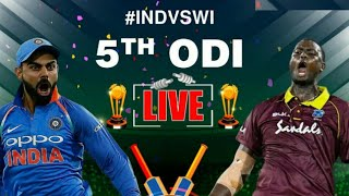 India Vs West Indies 5th Odi Live Streaming Match Video & Highlights