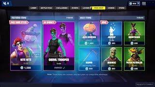 Ghoul Trooper SKIN is coming back Today (Halloween) Fortnite Item Shop  Update video - id 371f93977534c8 - Veblr Mobile