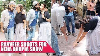 Ranveer Singh and Neha Dhupia Show Off Their Funny Antics