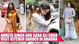 Sara Ali Khan and Mom Amrita Singh Go For a Lunch Date