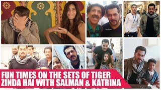 Fresh Stills Of Salman and Katrina From The Sets Of Tiger Zinda Hai