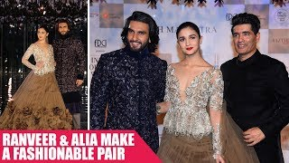 Ranveer Singh and Alia Bhatt Make a Fashionable Pair At Manish Malhotra Show
