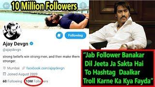 Ajay Devgn Crosses 10 Million Followers On TWITTER