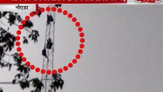 वेतन की मांग को लेकर टावर पर चढ़ा नोएडा प्राधिकरण का कर्मचारी ! देखिए पूरी रिपोर्ट