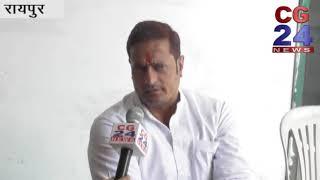कांग्रेस प्रत्याशी रायपुर पश्चिम - विकास उपाध्याय से खास बातचीत
