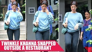 Twinkle Khanna Snapped Outside a Restaurant In Bandra