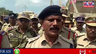 POLICE MARCH IN KODANGAL FOR ELECTIONS AT VIKARABAD DIST