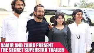Secret Superstar Trailer Launch With Aamir Khan and Zaira Wasim