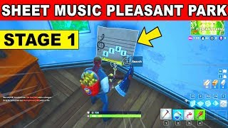 Stage 1- Find the Sheet Music in Pleasant Park LOCATION WEEK 6 CHALLENGES Fortnite Season 6