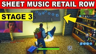 STAGE 3- Find the Sheet Music in Reatil Row LOCATION WEEK 6 CHALLENGES Fortnite Season 6