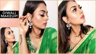 DIWALI MAKEUP | INDIAN FESTIVE MAKEUP