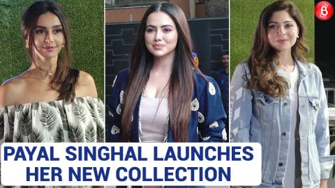 Shibani Dandekar & Sana Khan spotted at the launch of Payal Singhal's new collection