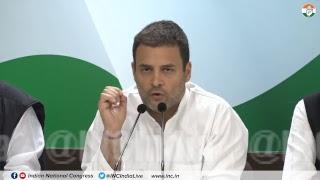 Congress President Rahul Gandhi addresses media on Rafale Deal Scam