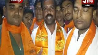 शिवसैनिको ने 2100 दीये जलाकर की राम मंदिर निर्माण की मांग