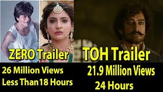 Zero Trailer Becomes Fastest To Reach 26 Million View & 1 Million Like In 24 Hrs Beats TOH Trailer
