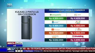 Perbandingan Harga e-Commerce: Kulkas 2 Pintu LG GN C222SQCN