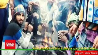 Rains, snowfall in Kashmir, Mughal road; Leh NH closed