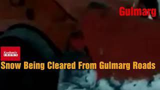 #gulmarg  Snow Clearance Operation Underway In Gulmarg.