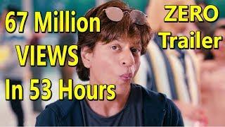ZERO Trailer Gets Fastest 67 Million Views In 53 Hours I SRK Trailer Rocks