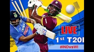 Live || India Vs West Indies|| 1st T20 Live  || IND vs WI || T20 2018