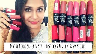 Matte Lipsticks Rs. 129 only   Half n Half Super Matte Lipsticks Review & Swatches   Nidhi Katiyar