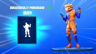 *NEW* BUSY EMOTE AND SKINS (Fortnite Item Shop November 4) - BUSY EMOTE
