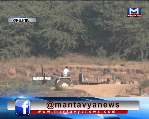 illegal sand mining activity near Sabarmati River in Ahmedabad   Mantavya News