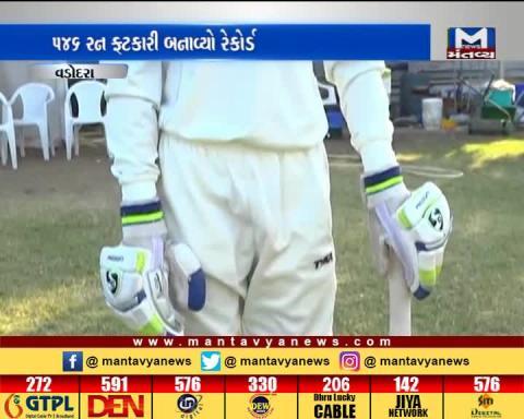 Vadodara: A 13 yrs old boy has made a record in Shri DK Gaekwad Under-14 Two-Day Tournament