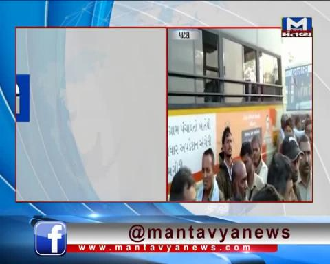 Patan: A Private Bus Driver has attacked on the ST Bus Driver | Mantavya News