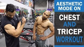 AESTHETIC MODE ON Chest and Tricep Workout! DAY 1 (Hindi / Punjabi)