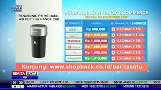 Perbandingan Harga e-Commerce: Panasonic Air Purifier Nanoe Car