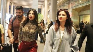 Priyanka Chopra RETURNS With Parineeti To Mumbai For MARRIAGE Shopping, Spotted At Airport