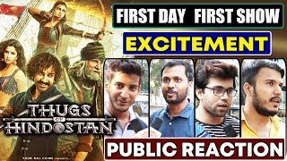 Thugs Of Hindostan | First Day First Show | PUBLIC EXCITEMENT | Aamir Khan, Amitabh, Katrina