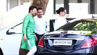 Ranveer Singh & Deepika Padukone Spotted At Sanjay Leela Bhansali House