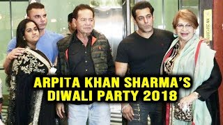 Arpita Khan Sharmas Grand Diwali Party | Salman Khan, Helen, Salim Khan, Sohail | Diwali Party 2018