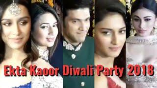 Parth, Erica, Neha, Divyanka, Mouni Roy,Shraddha Kapoor At Ekta Kapoor Grand Diwali Party 2018