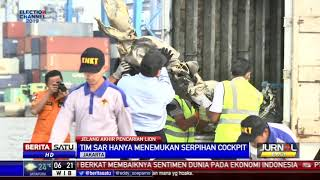 Cockpit Pesawat JT-610 Ditemukan dalam Bentuh Serpihan