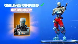 OFFICIAL SECRET HUNTING PARTY SKIN in SEASON 6 (Fortnite WEEK 7 SECRET SKIN) Fortnite Battle Royale