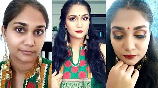 Classic Red & Gold Makeup for Beginners (Step by Step in Hindi) | Bridal/Indian Festival Makeup