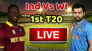 India Vs West Indies 1st T20 Live Streaming Match Video & Highlights