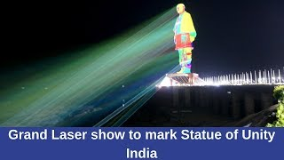 Grand Laser show to mark Statue of Unity India